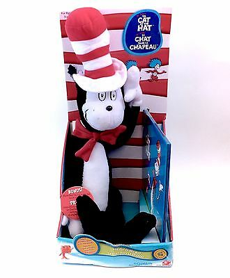 2003 Cat In The Hat Large Plush Toy Doll And Book Play Along Sealed box Dr Seuss