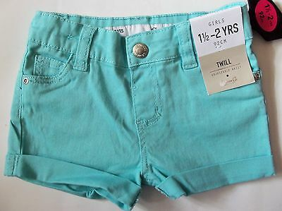 Baby / Girls Light Blue Primark Twill Shorts in sizes 1.5-2 years & 2-3 years