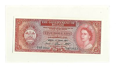 1975 The Government of Belize Five Dollars Gem-Uncirculated