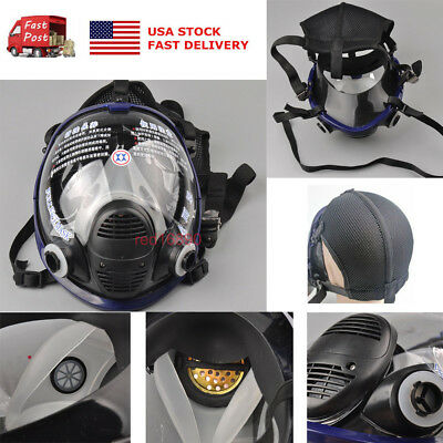 New For 6800 Facepiece Respirator Gas Mask Full Face Painting Spraying US