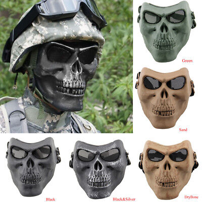 Skull Skeleton Costume Halloween Face Masks Hunting Tactical Military Protective