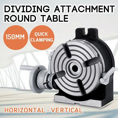 150mm Dividing Attachment 360 ° Round Table 4-jaw Chuck 5.9inch