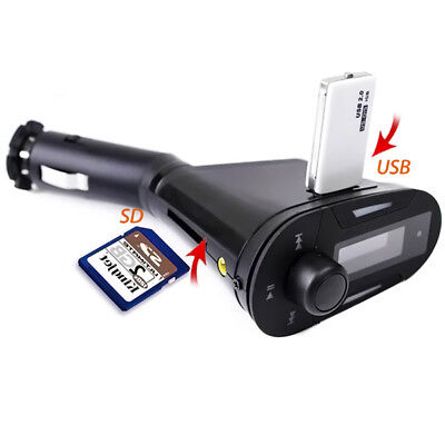 NEW Compact Car MP3 Player Wireless FM Transmitter With USB SD MMC Slot USB Port