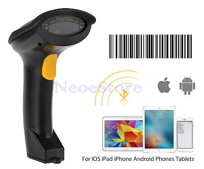 Cordless Laser Barcode Scanner Bar Code Bluetooth Wireless POS Handheld Scan IOS