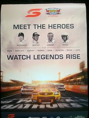 2 Bathurst 2017 posters 1 promo an 1 race day in mint cond.