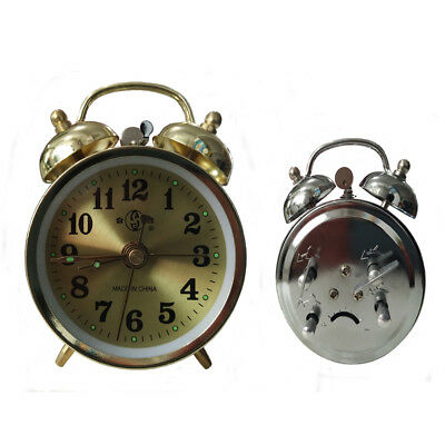 Acctim Saxon Traditional Wind-up Double Bell Bedside Alarm Clock Keywound Loud