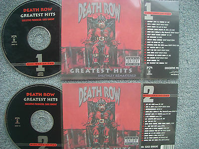 Death Row Greatest  2 x Jukebox CDs for NSM Jukeboxes + matching Title Cards