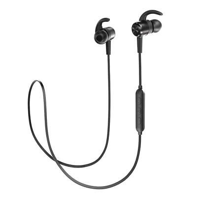 TaoTronics Bluetooth Kopfhörer 4.1 In Ear Wireless Headset mit Magnet (Schwarz)