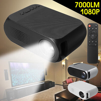 7000 Lumens HD 1080P HDMI 3D Multimedia Mini Portable Projector LED Home Theater