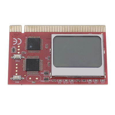 Red PCI PC Interface LCD Display Debug Card Motherboard Testing Diagnostic Cards