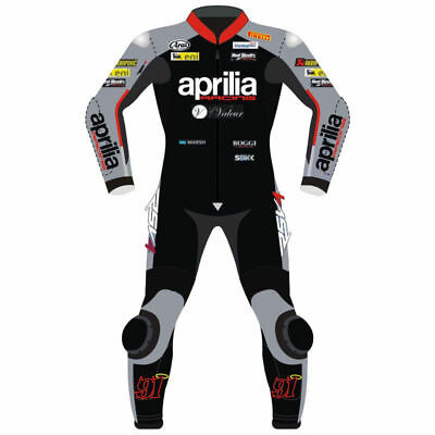 Aprilia Custom Made Motorbike Motorcycle Racing Leather Suit 1&2 Pcs Cow Hide