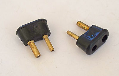 Two Pieces Of 2 Pin Speaker Plugs For Leak Rogers Armstrong Valve Amplifier