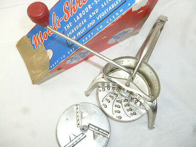 VINTAGE FRENCH MOULI FOOD PROCESSOR with all 4 blades - v good cond