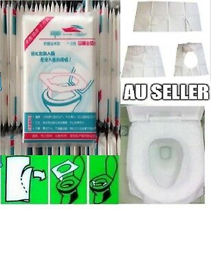 50pcs/100pcs Toilet Seat Covers Paper Travel Biodegradable Disposable Sanitary