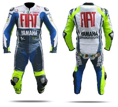 Yamaha Fiat Moto Gp Racing Motorcycle Motorbike Cowhide  Leather Suit