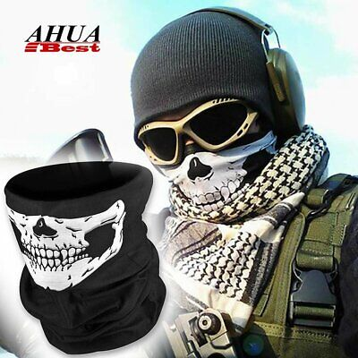 Skull Ghost Face Mask Neck Tube Scarf Snood Balaclava Ski Cycling Biker Bandana