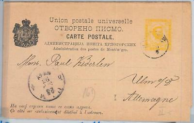 65981 MONTENEGRO  - POSTAL STATIONERY CARD  - P10 Double Card  1893