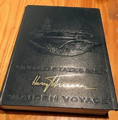 USS Harry S. Truman CVN-75 Maiden Voyage 2001 Cruise Book, Freebies Included