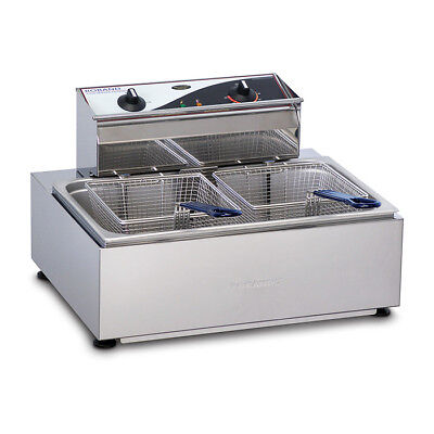 Benchtop Deep Fryer 11L Single Vat Twin Basket 15amp Roband Commercial F111 NEW
