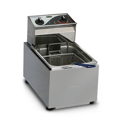 Benchtop Deep Fryer 8L Single 15amp Roband F18 Chips & Fries Commercial NEW