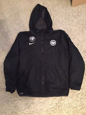 eintracht frankfurt matchworn nike jacke gr l original. Black Bedroom Furniture Sets. Home Design Ideas