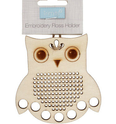 Wooden Embroidery Floss Holder - Owl