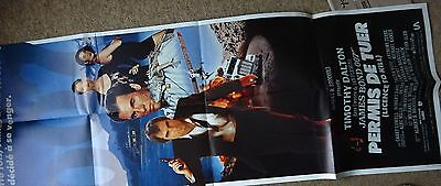 "POSTER James Bond 007 Licence To Kill (Timothy Dalton) Original 61""x22"""