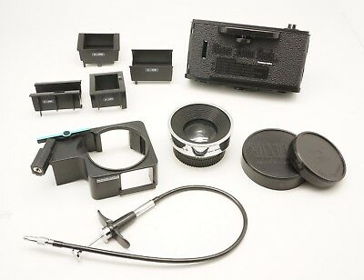 Lomography Used Diana Accessories Bundle 38mm Lens 35mm Film Back Release Cable