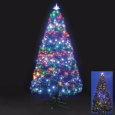 2ft / 60cm Green Fibre Optic Christmas Tree with Star on Top Xmas Colourful New