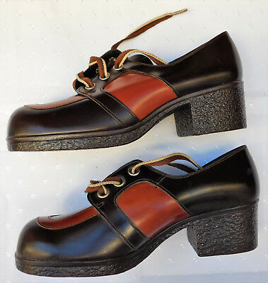 Vintage Clarks leather shoes UNUSED 6.5 F girls womens 1960s 1970s teenagers
