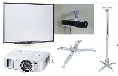 """77"""" Smart Package Sb680 Smart Interactive White Board + Projector + Accessories"""
