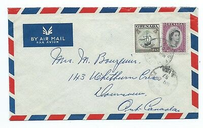 GRENADA: Airmail cover to Canada 1957.