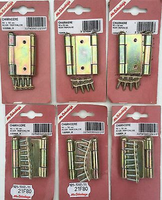 6 Pairs French B&Q Mr Bricolage Door Cabinet Cupboard Heavy Duty Hinges!