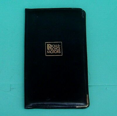 Rolls Royce Badge Leather Wallet And Note Book Etc, Genuine Rr Product