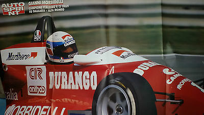 Poster GIANNI MORBIDELLI su Dallara-Alfa romeo 1989 cm 80 x 54 Supplemento AS