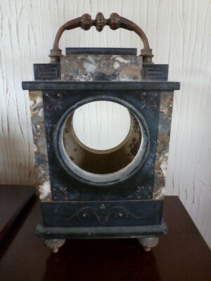 Unusual Old French marble mantel clock case spares / repair