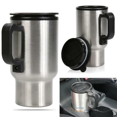 450ML Car Auto Heated Adapter Outdoor Travel Thermos Heating Cup Kettle Mug