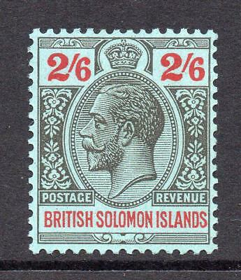 Solomon Islands 2/6 Stamp c1922-31 Mounted Mint
