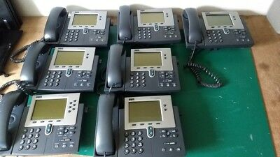7x Cisco CP-7940G CP-7960G IP Phone VOIP Telephone Ethernet Unified - JOBLOT