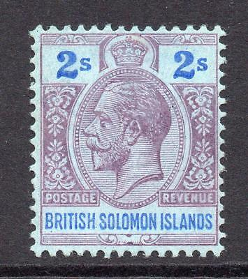 Solomon Islands 2/- Stamp c1914-23 Mounted Mint