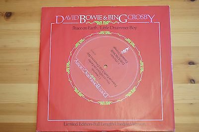 Rare David Bowie Bing Crosby Peace on Earth Little Drummer 12in RCA BOW T12 EX