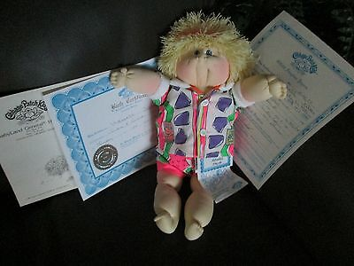 Cabbage Patch Kids Soft 1989 Lapis Ed. 2000, 16 in. Blond Boy