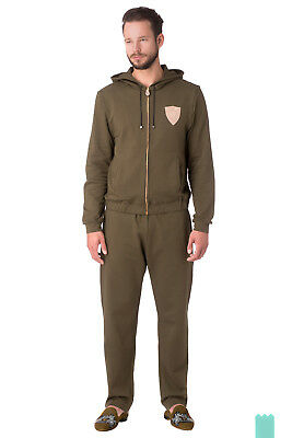 RRP €840 BILLIONAIRE COUTURE Size L Men's Zip Hooded Tracksuit Made in Italy