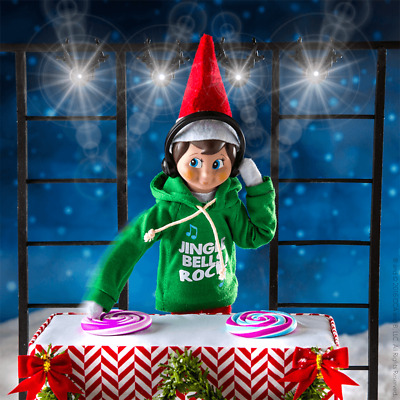 NEW 2017 Elf on The Shelf Claus Couture Scout Jingle Jam Hoodie Boy Outfit