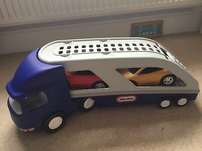 Little Tikes Car Carrier Large Truck Transporter  + 2 Sports Cars
