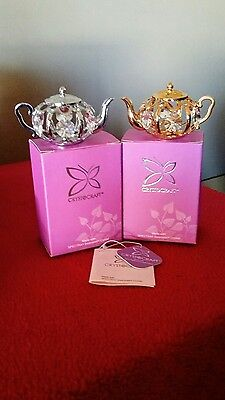 Crystocraft / Swarovski Crystal Tea Pots