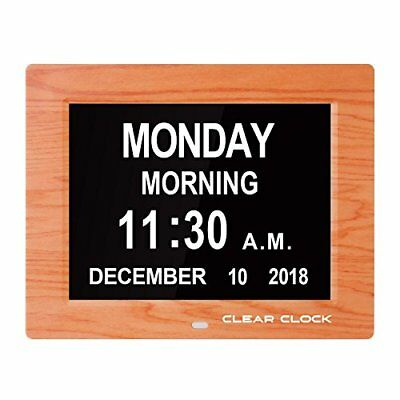 Clear Clock Newest Version Extra Large Digital Memory Loss Calendar Day Clock Wi