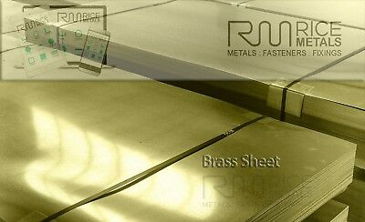 Brass Sheet Metal Cut to Size 0.5mm 0.7mm 0.9mm 1.2mm Thickness Choices & Length