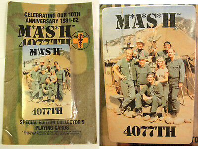 Vtg Sealed Deck M*A*S*H Playing Cards MASH TV Show 10th Anniversary 1981