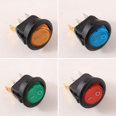 4Pcs LED Light Rocker Switch Car Boat Dot Light Toggle ON-OFF Accessories